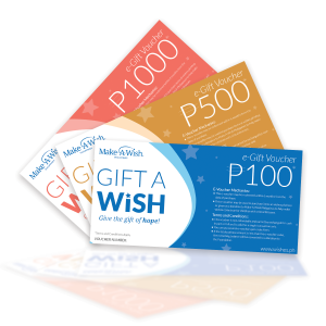 Gift A Wish voucher of Make-A-Wish Philippines